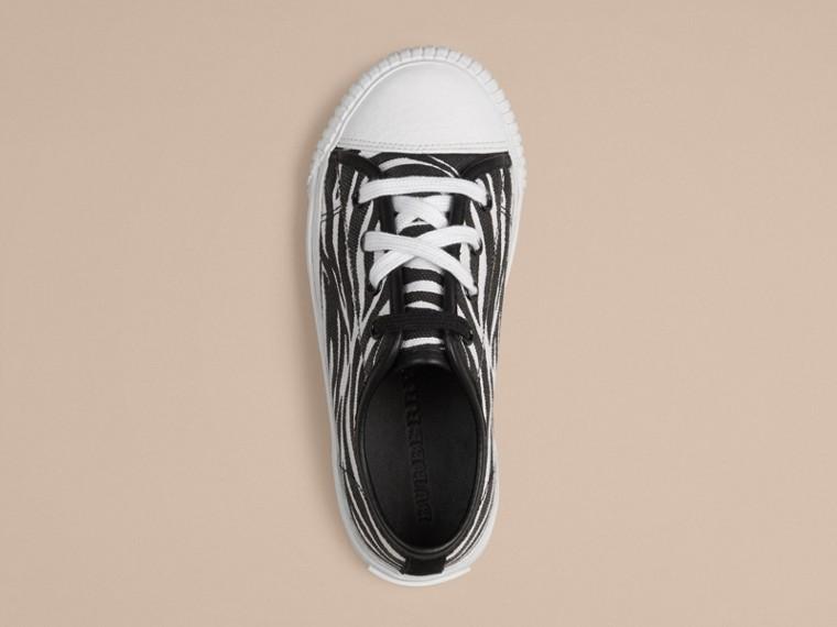 Nero/bianco Sneaker in tela con stampa zebrata - cell image 2