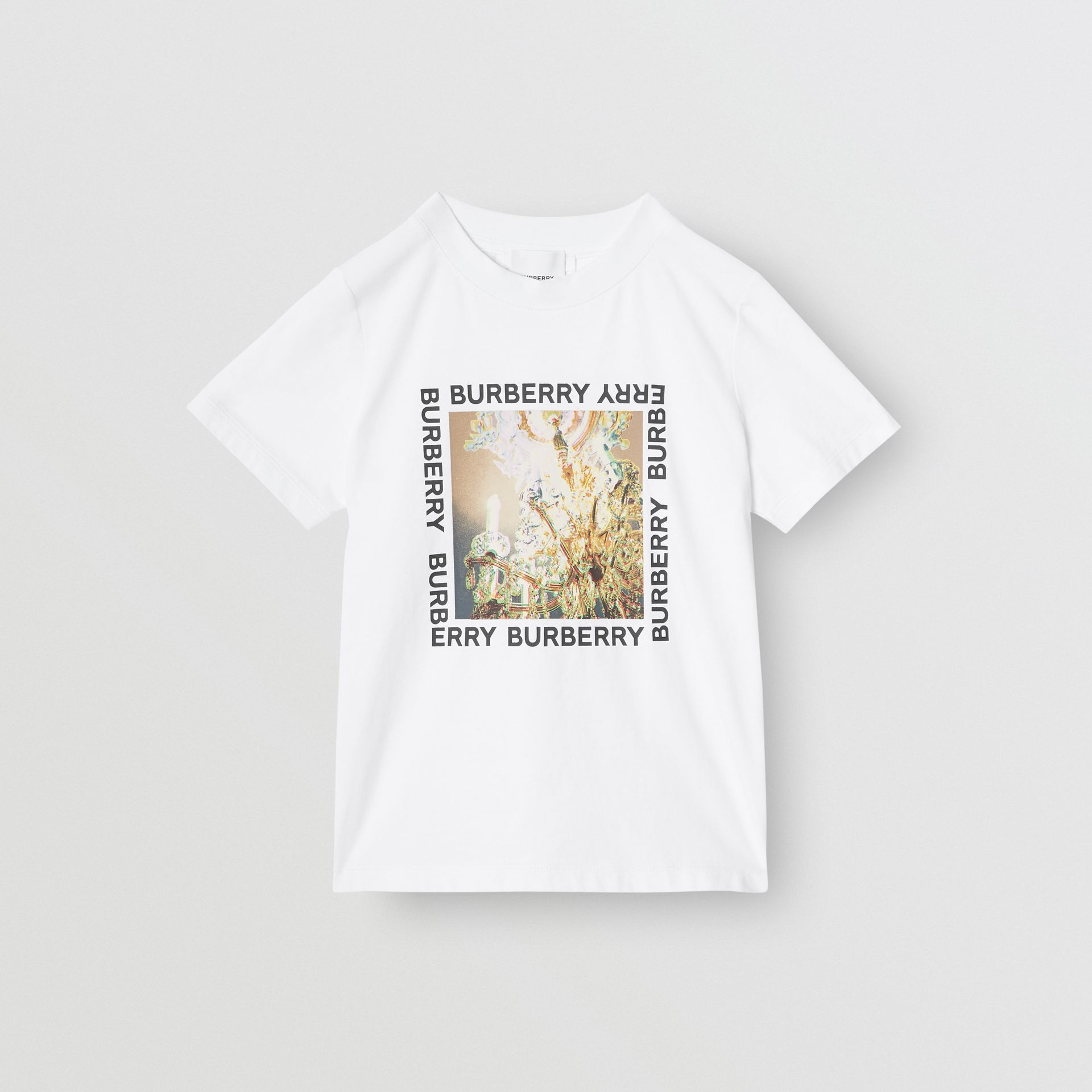 Chandelier Print Cotton T-shirt in White | Burberry - gallery image 0