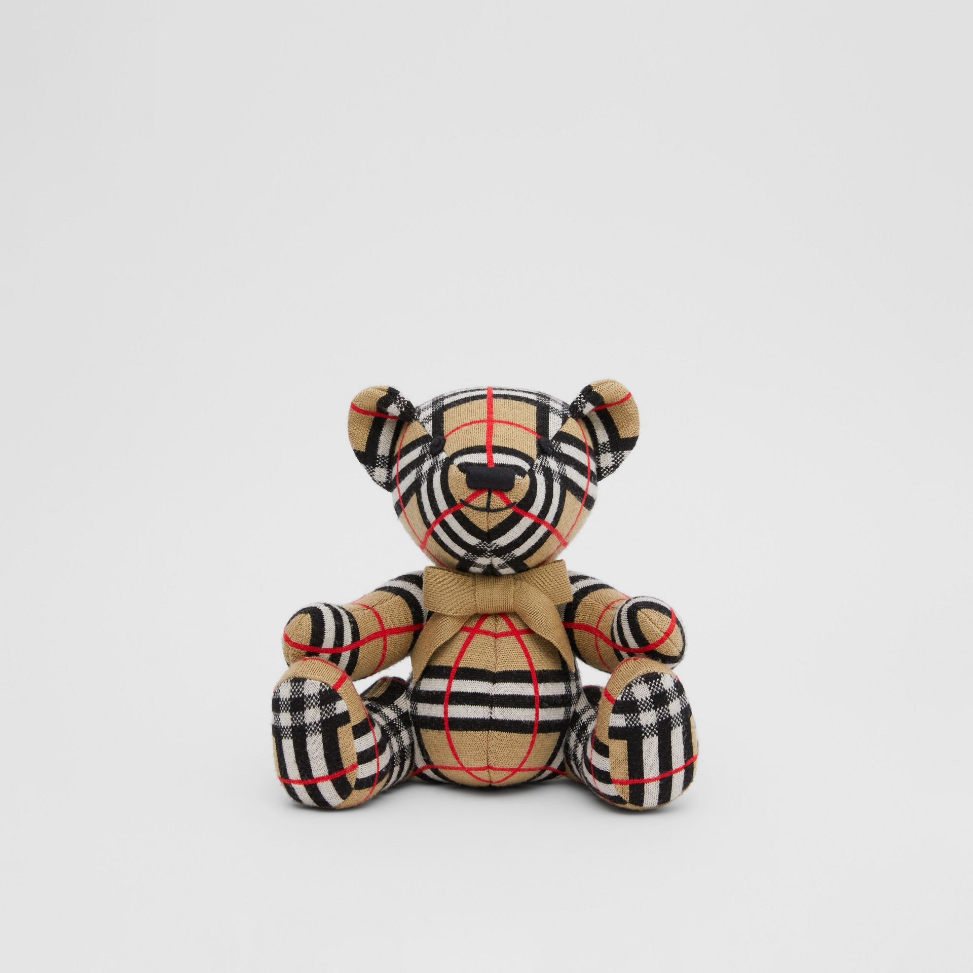 Check Merino Wool Thomas Bear in Archive Beige - Children | Burberry United States - gallery image 0