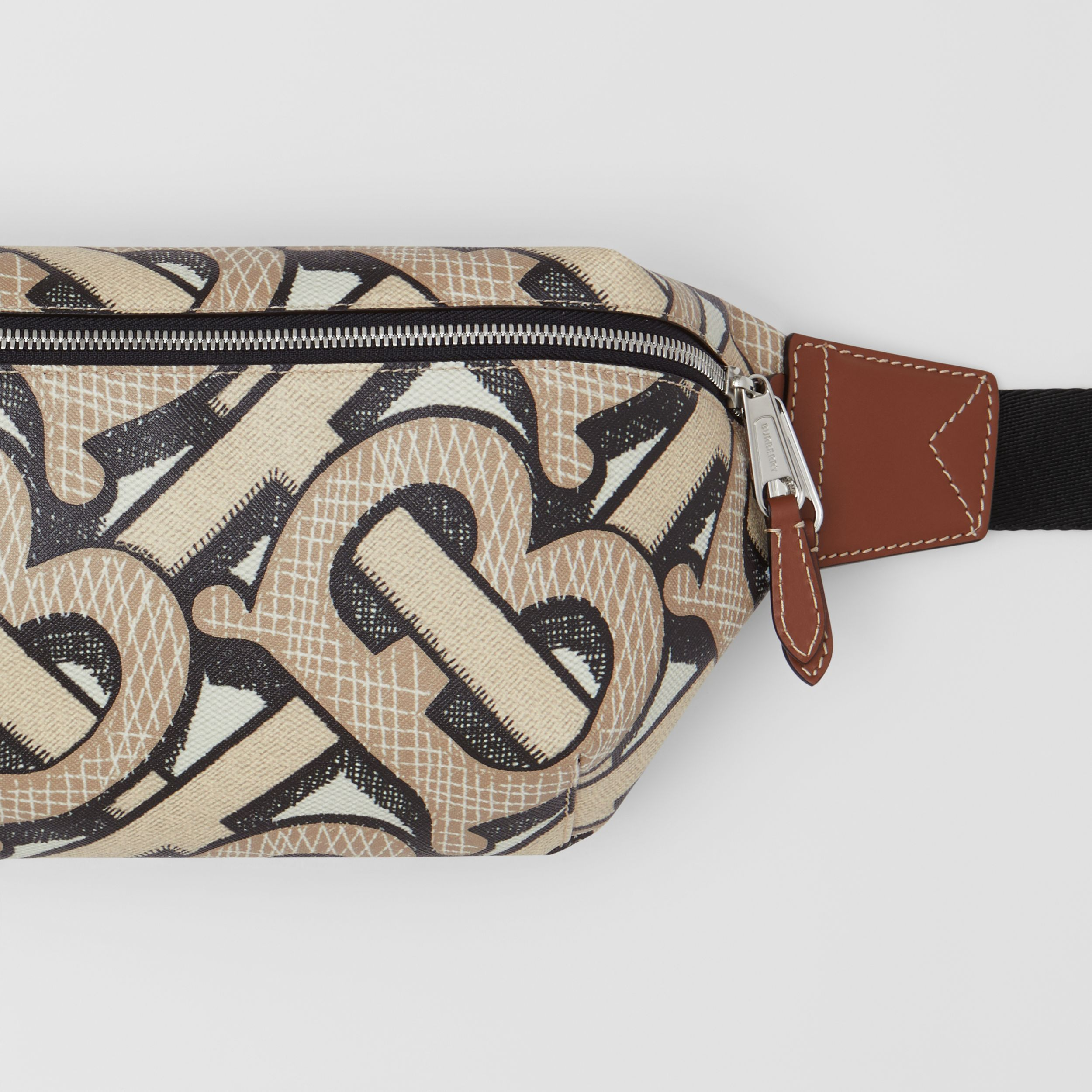 Monogram Print E-canvas Sonny Bum Bag in Dark Beige | Burberry - 2