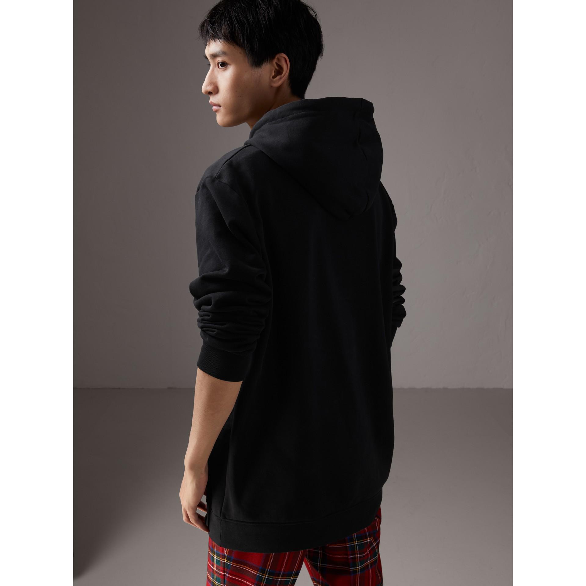 Burberry x Kris Wu Hooded Sweatshirt in Black - Men | Burberry United Kingdom - gallery image 2