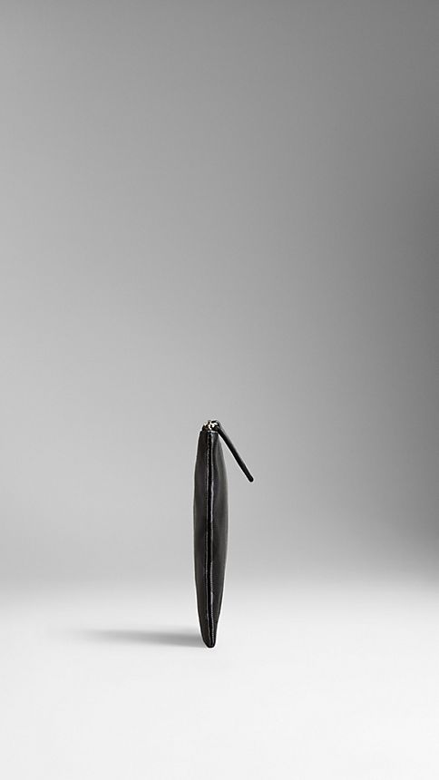 Black/charcoal Large Check Silk Satin Beauty Wallet - Image 3