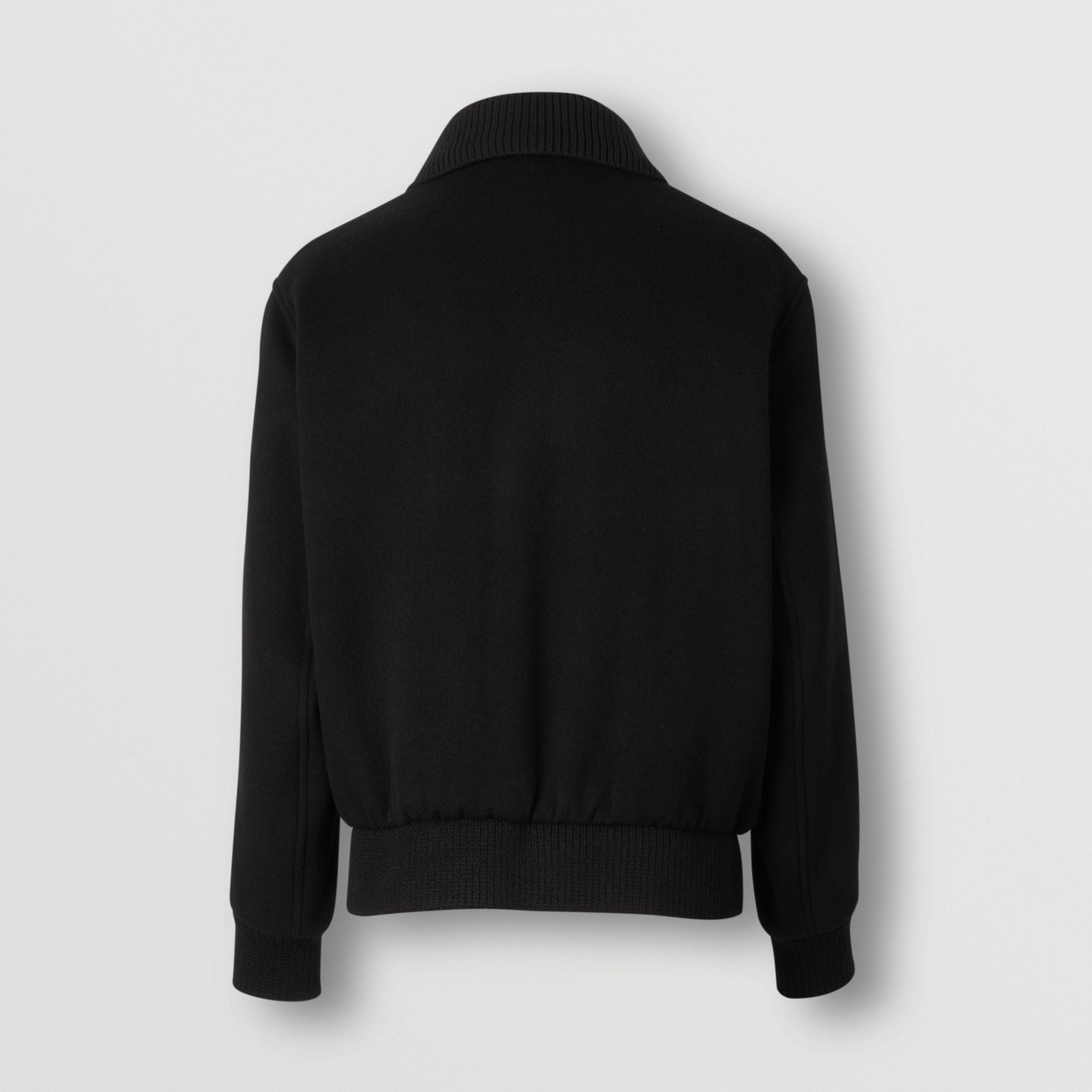 Detachable Knit Collar Wool Cashmere Bomber Jacket in Black - Men | Burberry - gallery image 6