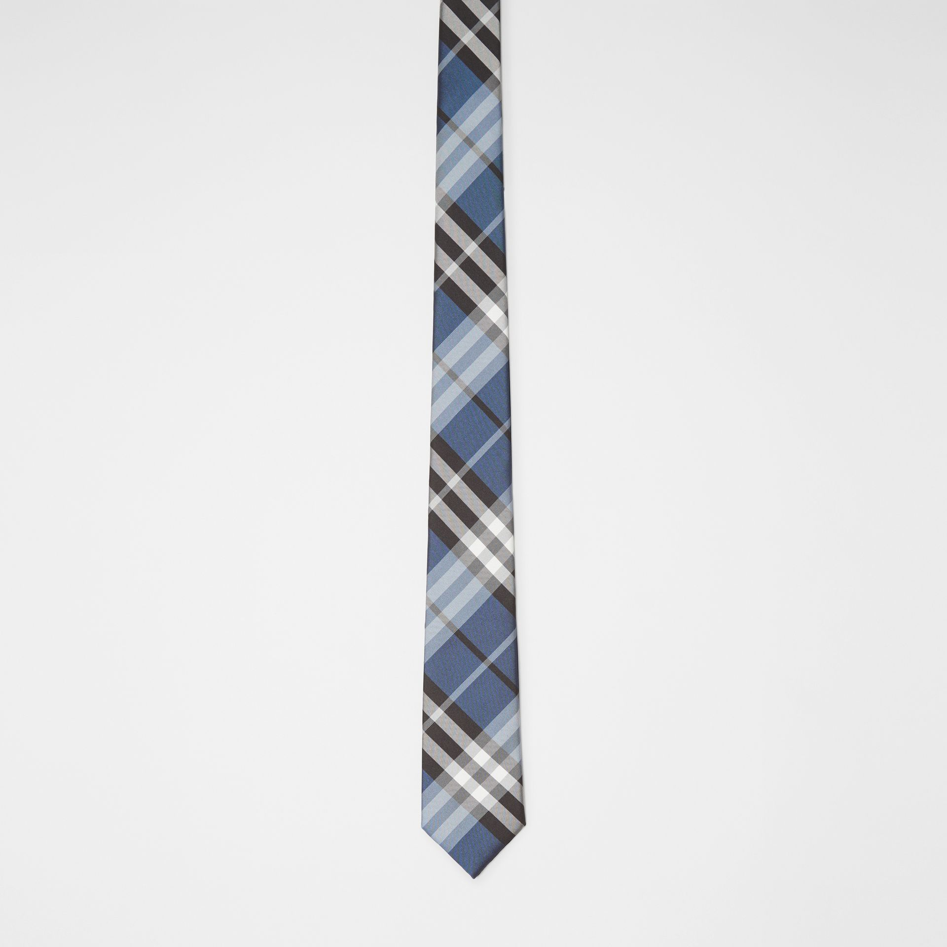 Modern Cut Vintage Check Silk Tie in Steel Blue - Men | Burberry - gallery image 3