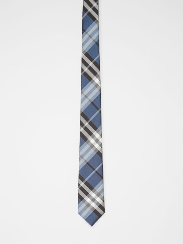 Modern Cut Vintage Check Silk Tie in Steel Blue - Men | Burberry - cell image 3