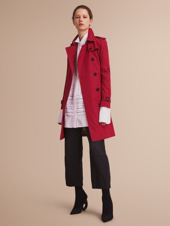 Trench coat Kensington - Trench coat Heritage largo Rojo Desfile