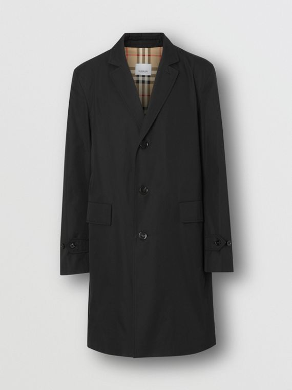 Cotton Gabardine Lab Coat in Black