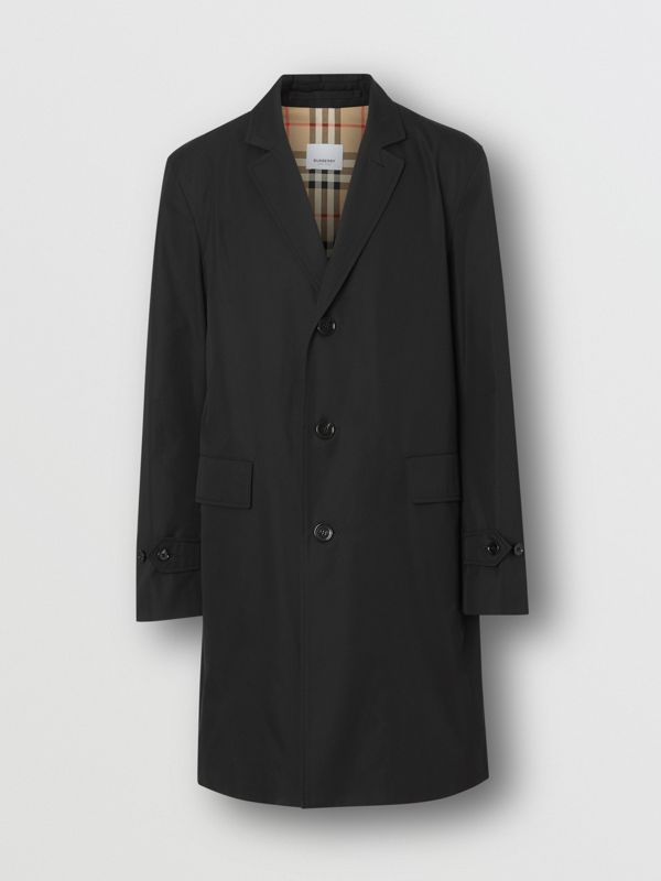 Cotton Gabardine Car Coat in Black - Men | Burberry Australia - cell image 3