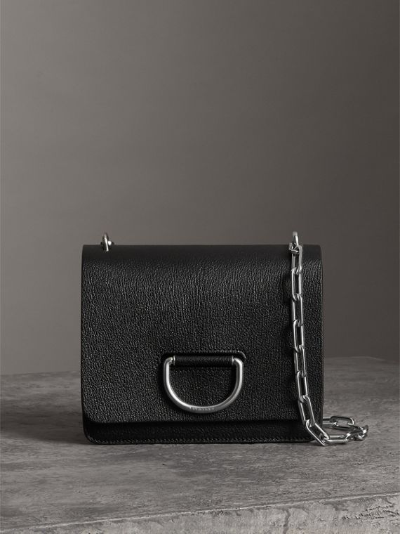 The Small Leather D-ring Bag in Black