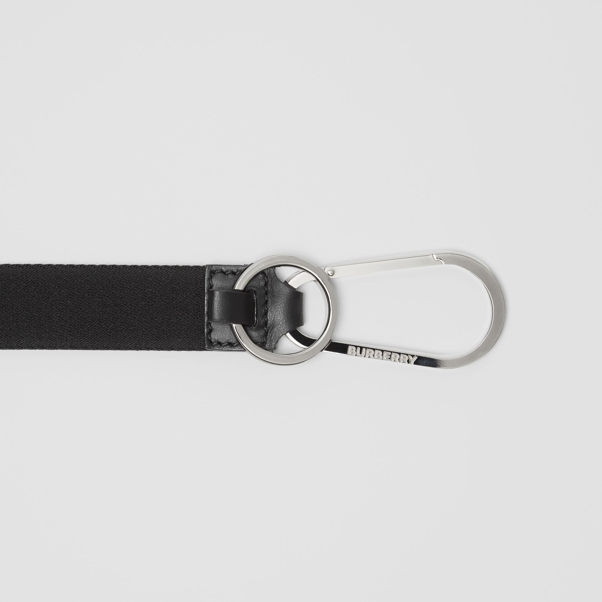 Logo Detail Lanyard in Black - Men | Burberry - gallery image 1