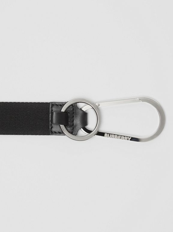 Logo Detail Lanyard in Black - Men | Burberry - cell image 1
