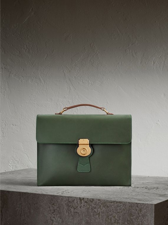 The Large DK88 Document Case in Dark Forest Green - Men | Burberry