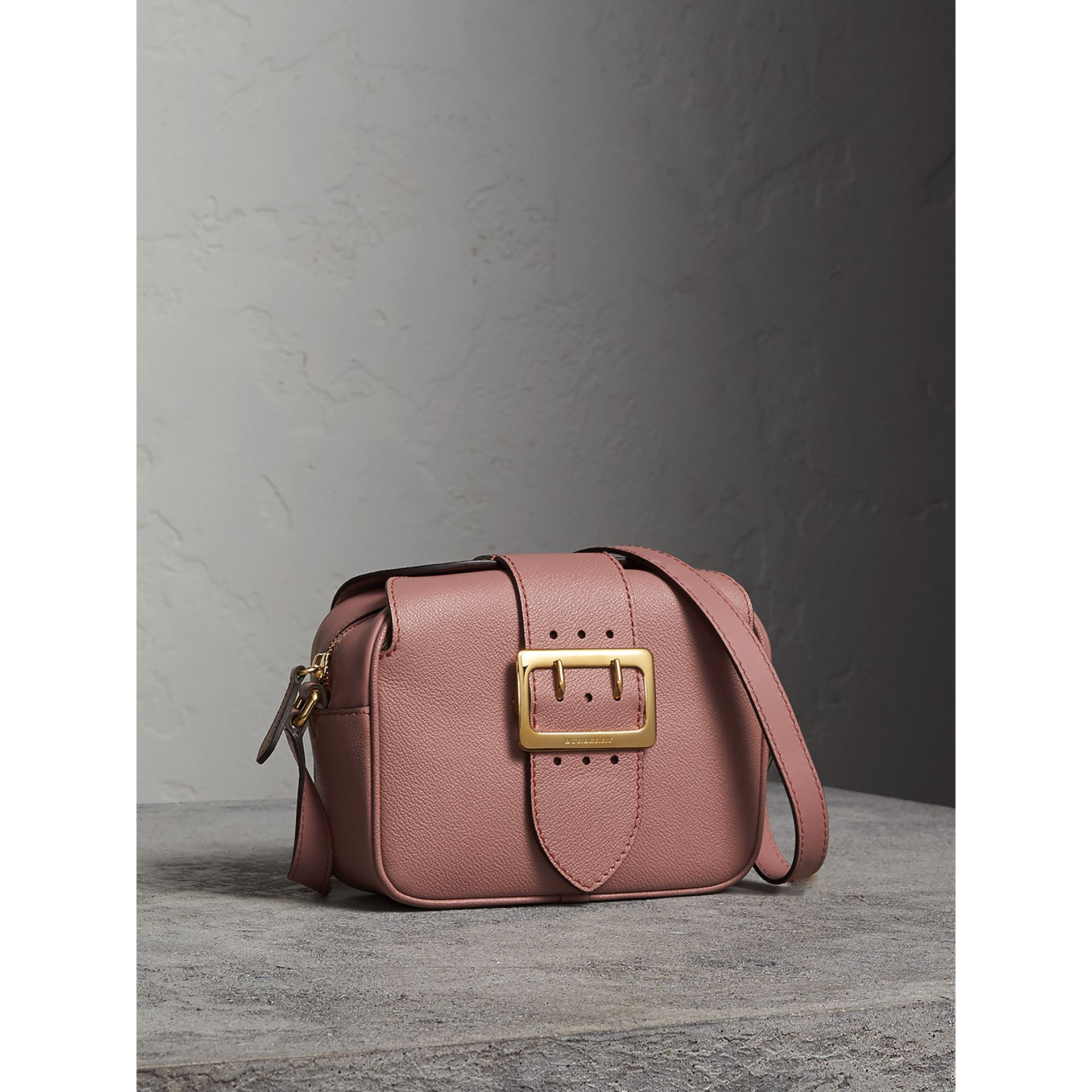 The Small Buckle Crossbody Bag in Leather in Dusty Pink - Women | Burberry - gallery image 5