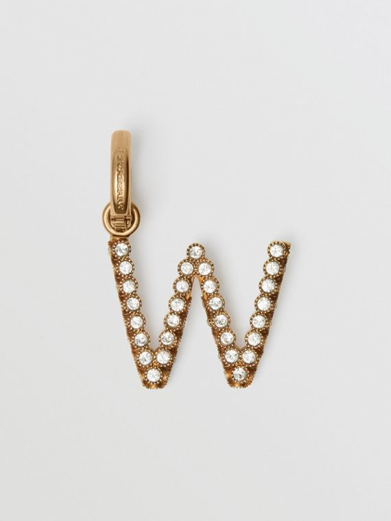 Crystal 'W' Alphabet Charm