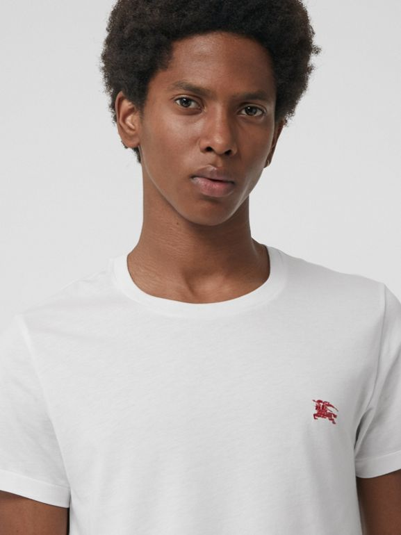 Cotton Jersey T-shirt in White - Men | Burberry - cell image 1