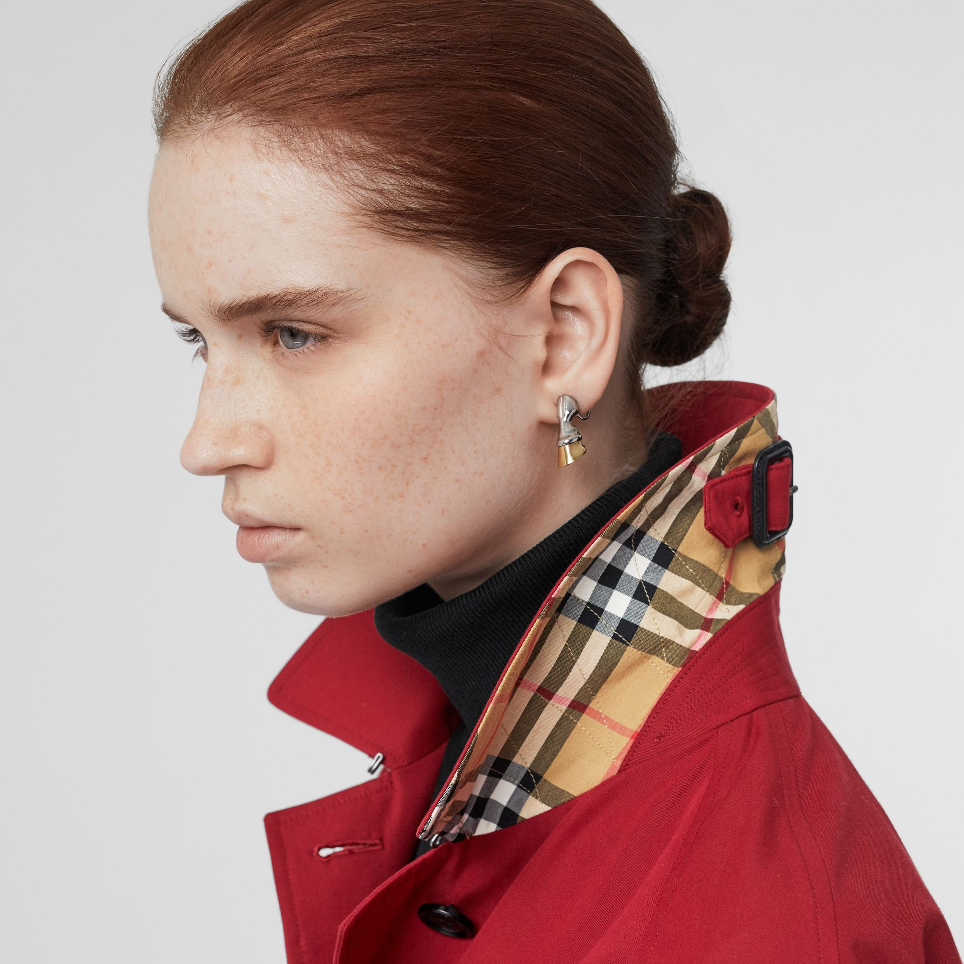 The Camden Car Coat in Parade Red - Women | Burberry - gallery image 4