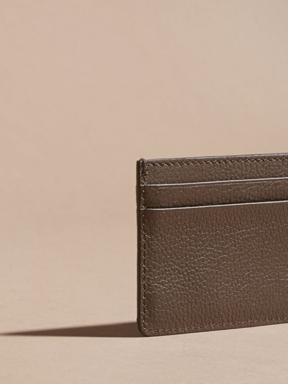 Deep taupe brown Grainy London Leather Card Case Deep Taupe Brown - cell image 3