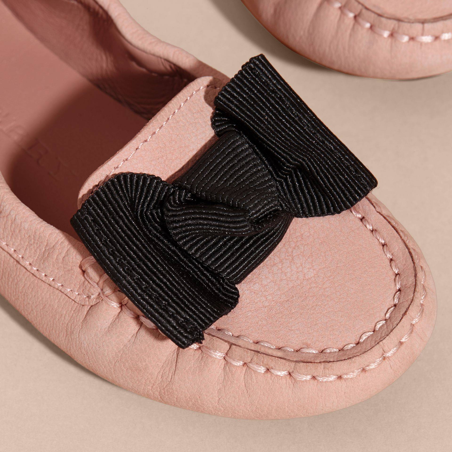 Ash rose Bow Detail Leather Loafer - gallery image 2