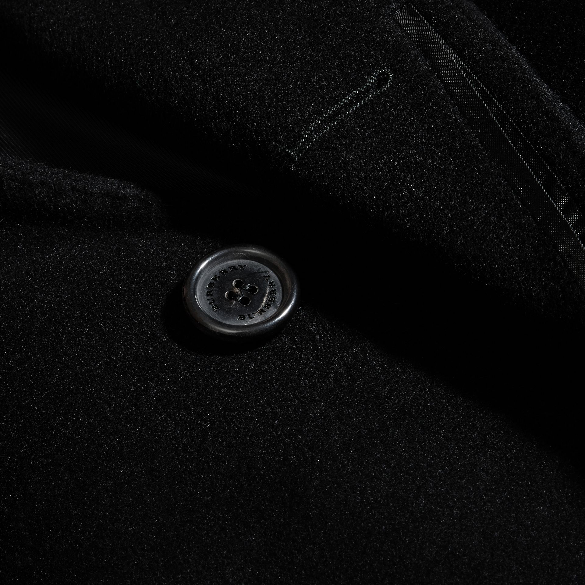 Black Wool Cashmere Tailored Coat Black - gallery image 2