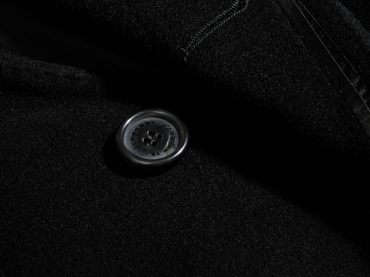 Black Wool Cashmere Tailored Coat Black - cell image 1