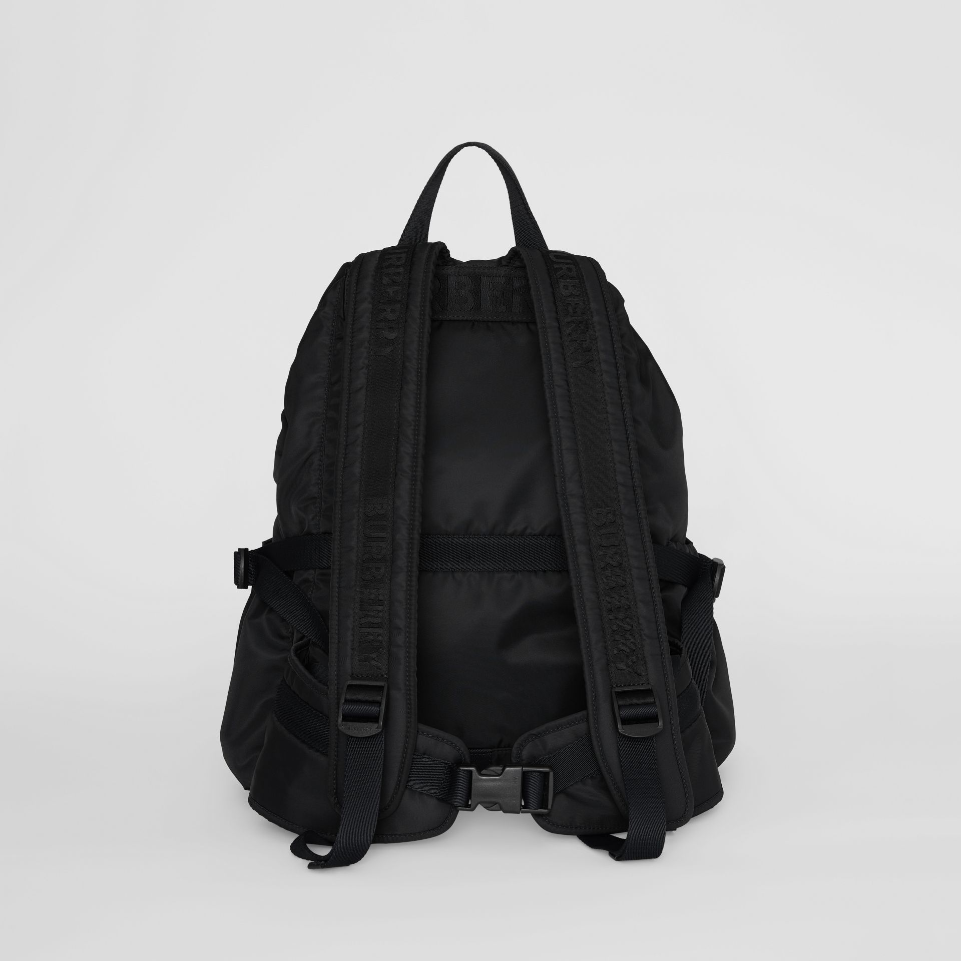 Logo Print Nylon Backpack in Black - Women | Burberry Singapore - gallery image 7
