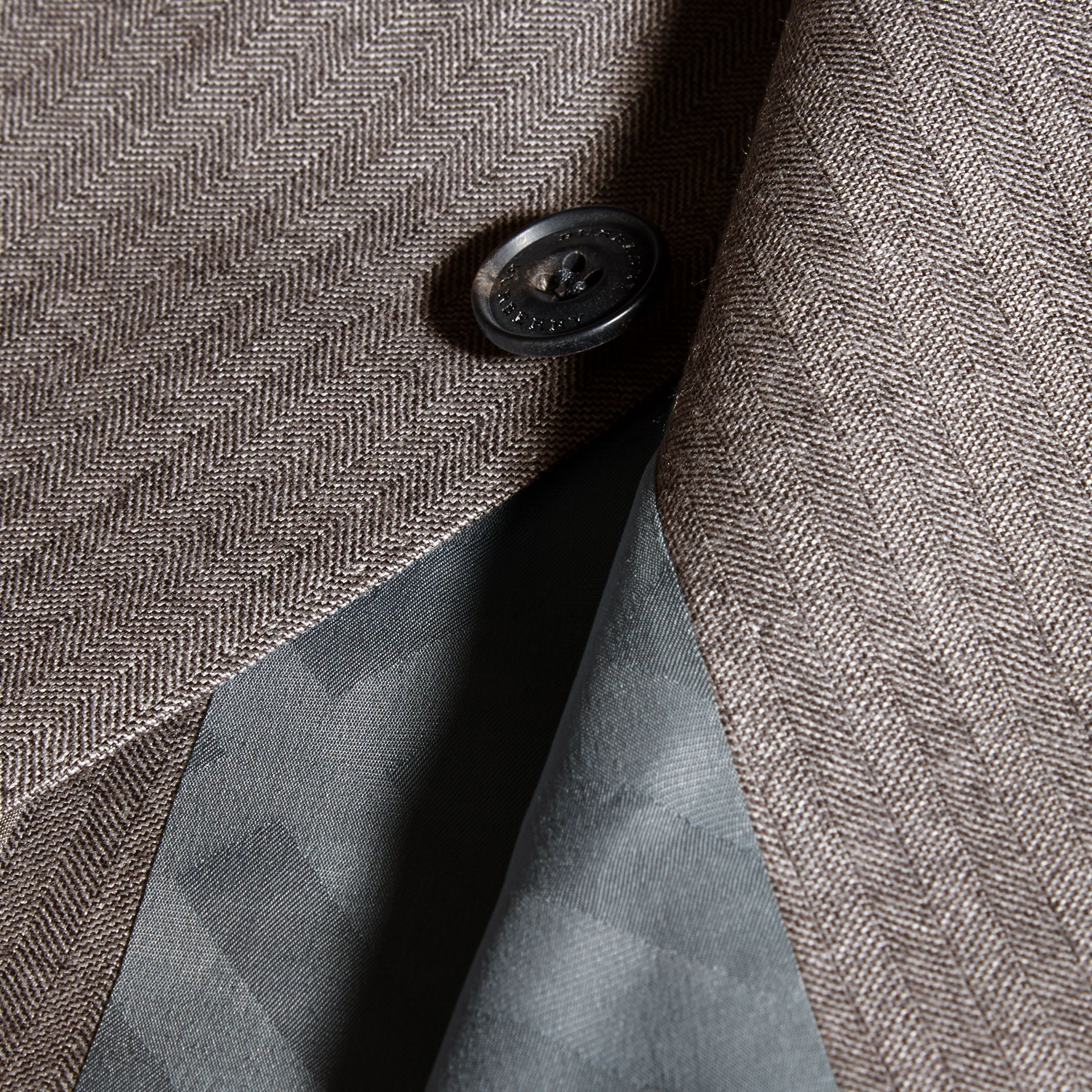 Mid grey melange Slim Fit Travel Tailoring Wool Suit - gallery image 2