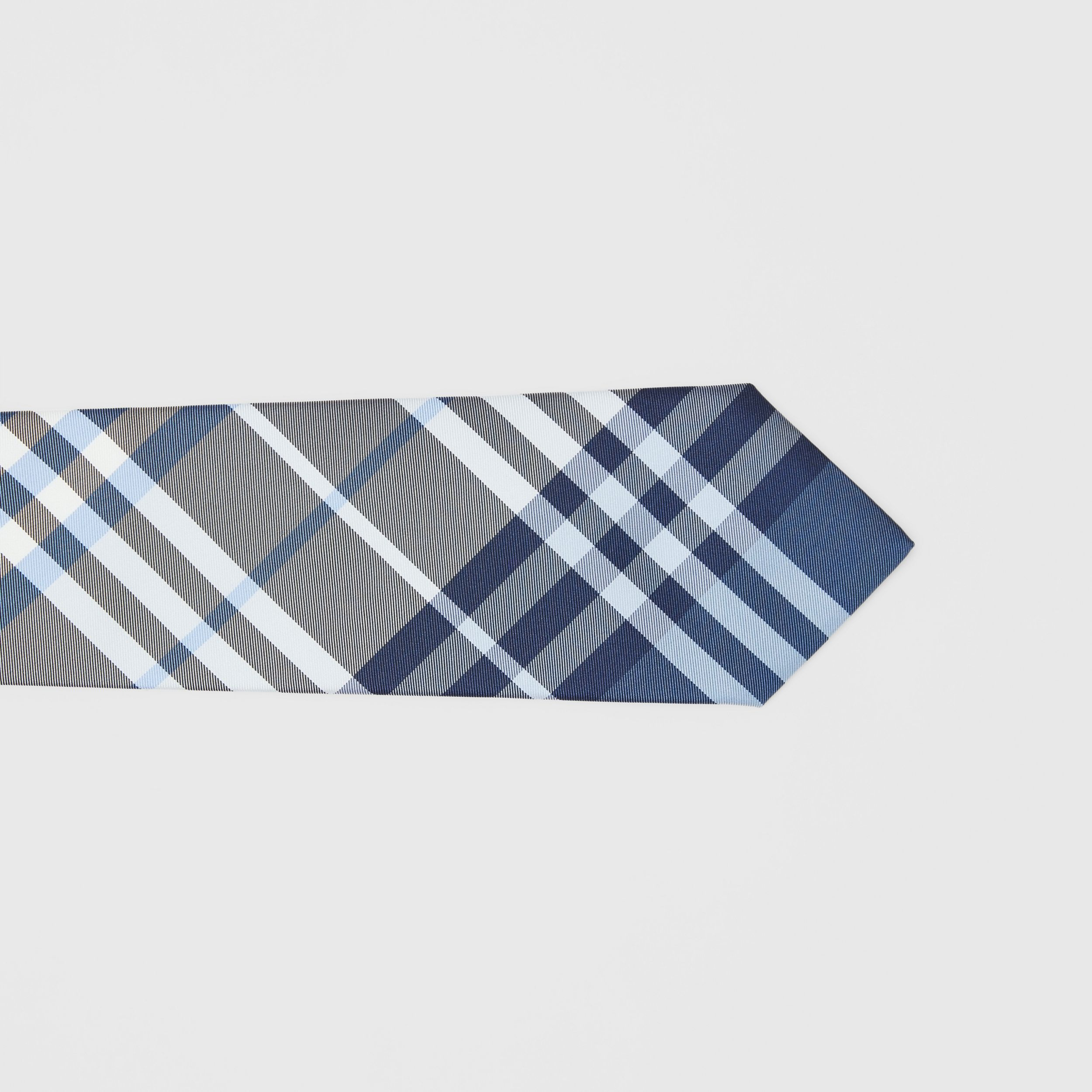 Classic Cut Check Silk Tie in Pale Blue - Men | Burberry - 2