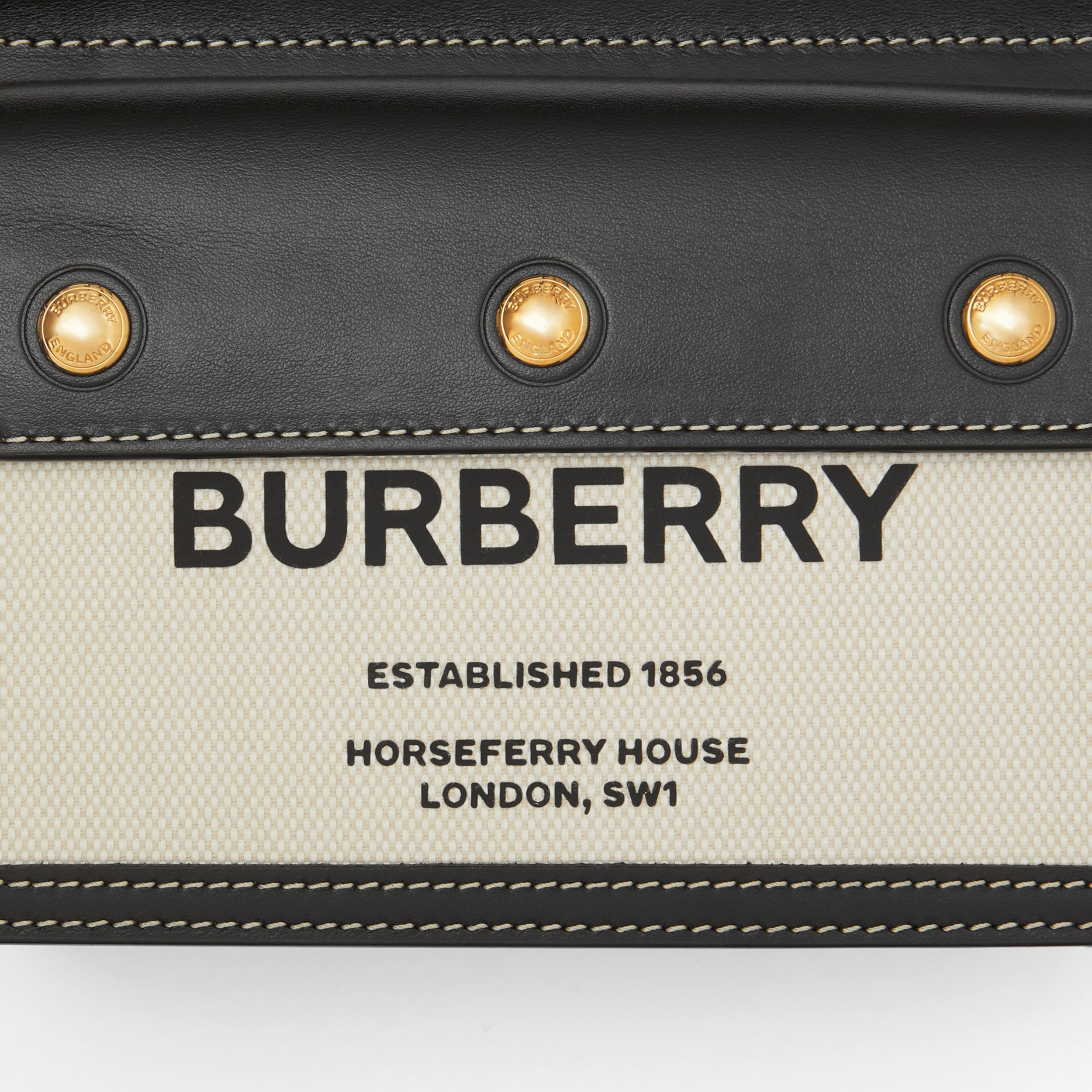Mini Horseferry Print Title Bag with Pocket Detail - Women | Burberry - 2