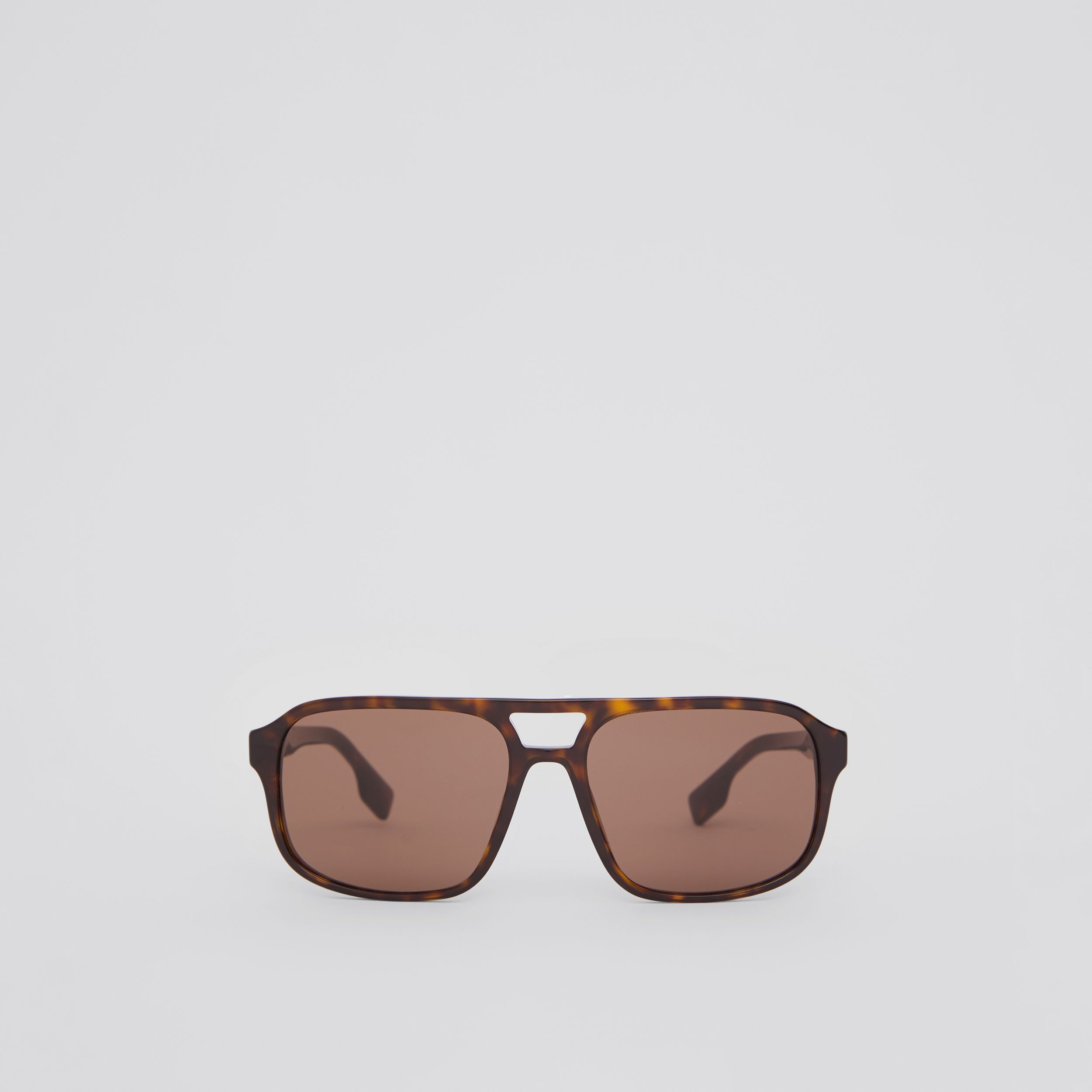 Square Frame Sunglasses in Tortoiseshell - Men | Burberry Hong Kong S.A.R. - 1