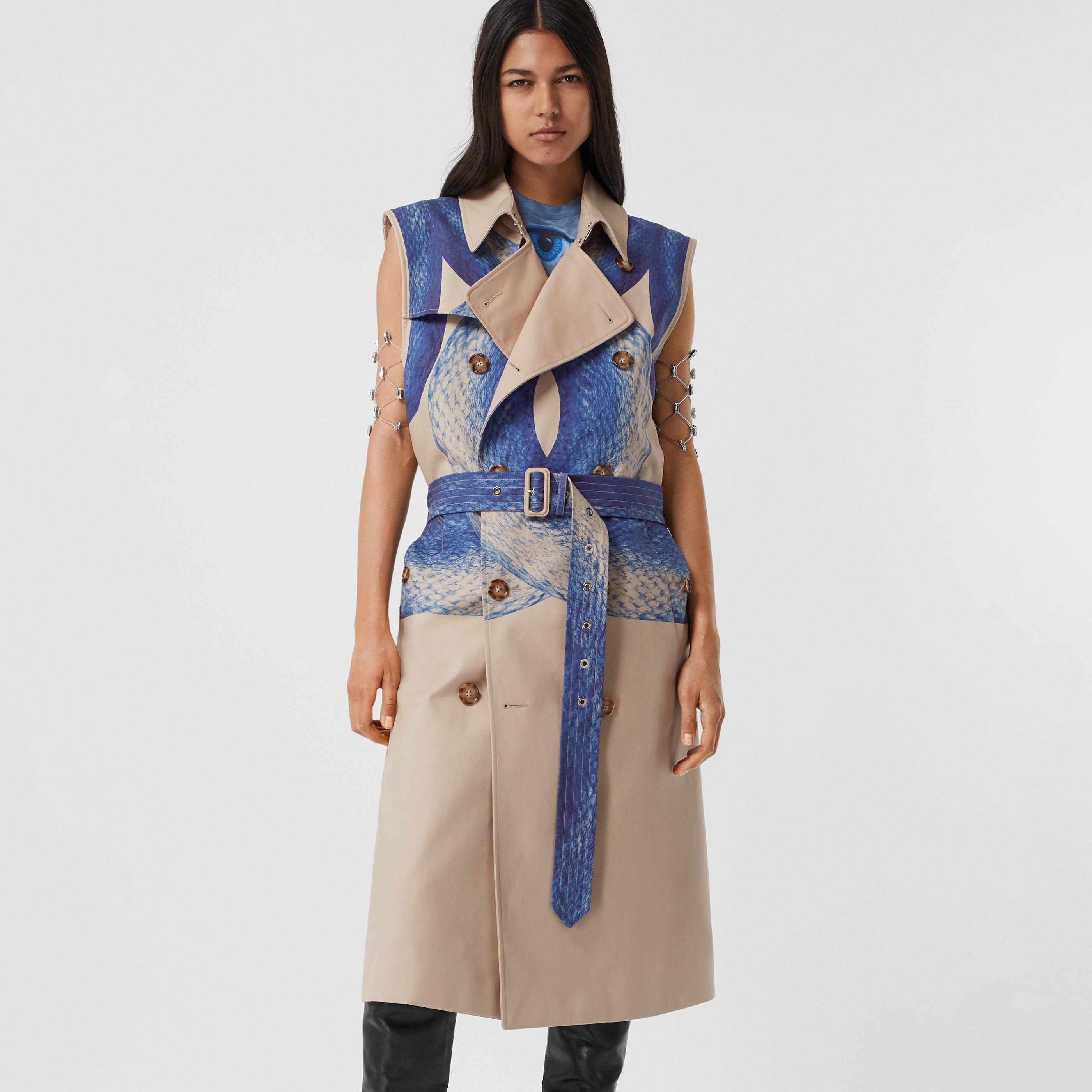 Trench coat senza maniche in cotone con coda di sirena (Blu Navy Inchiostro) - Donna | Burberry - 6
