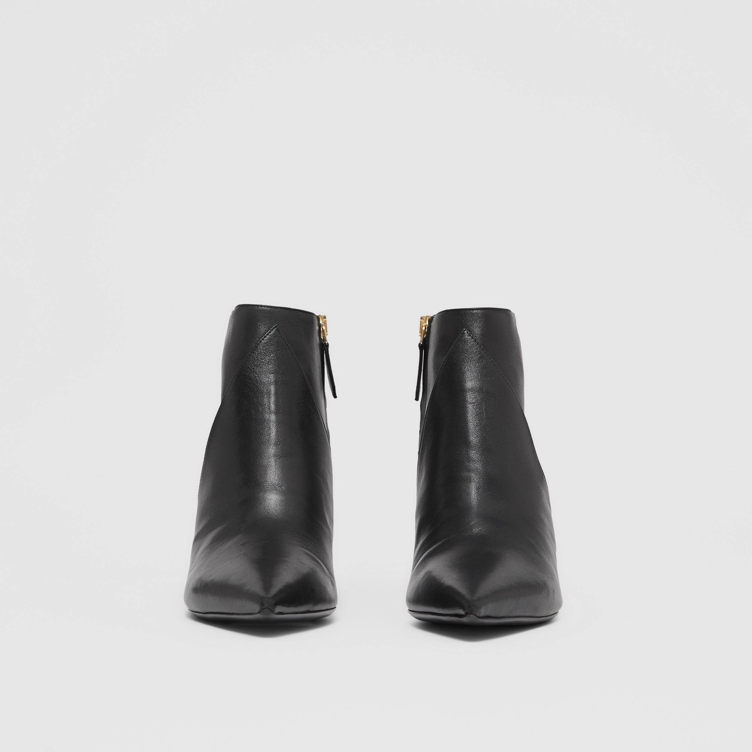 Leather Ankle Boots in Black - Women | Burberry Hong Kong S.A.R. - 3