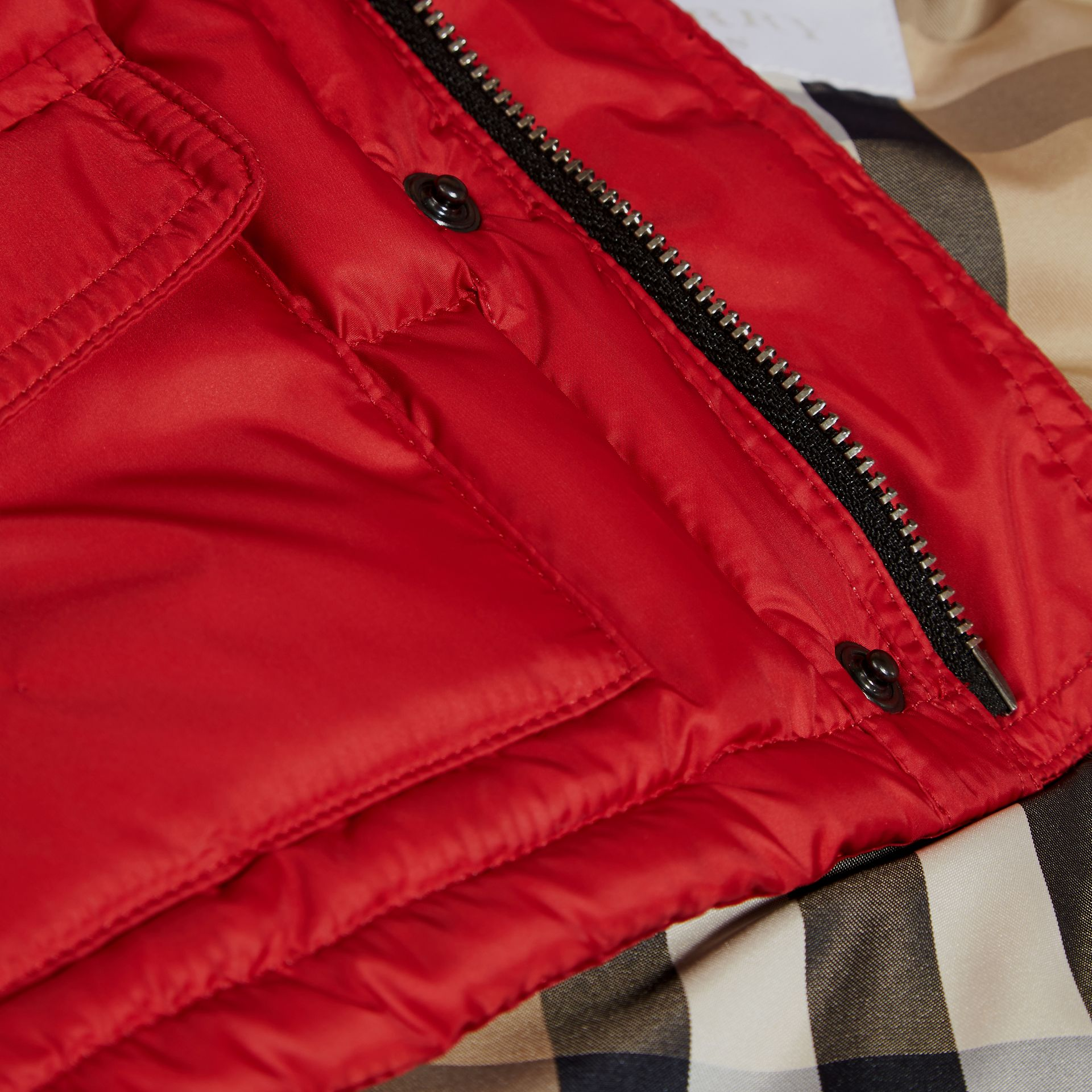 Military red Detachable Sleeve Puffer Jacket Military Red - gallery image 2