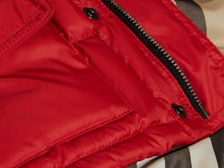 Military red Detachable Sleeve Puffer Jacket Military Red - cell image 1