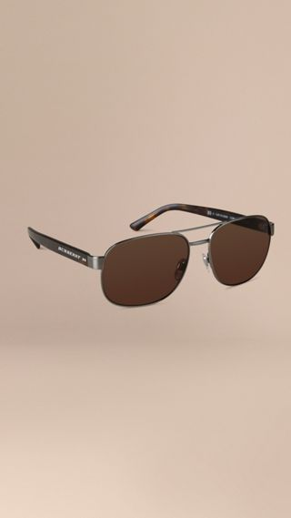 Square Frame Aviator Sunglasses