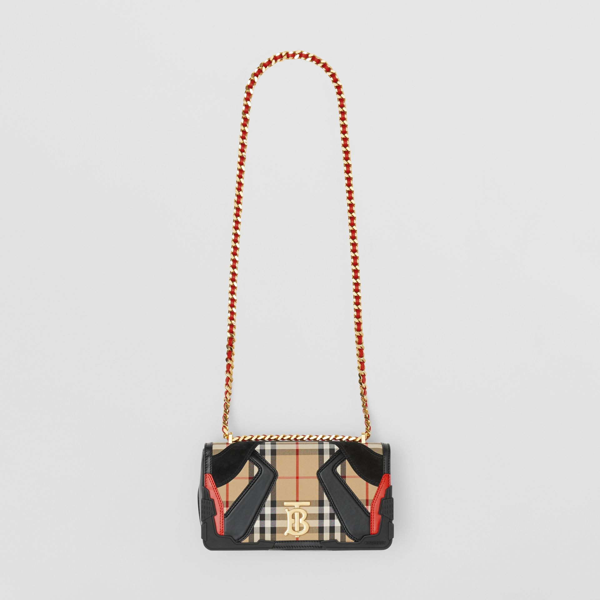 Small Appliqué Vintage Check Lola Bag in Archive Beige - Women | Burberry - gallery image 3