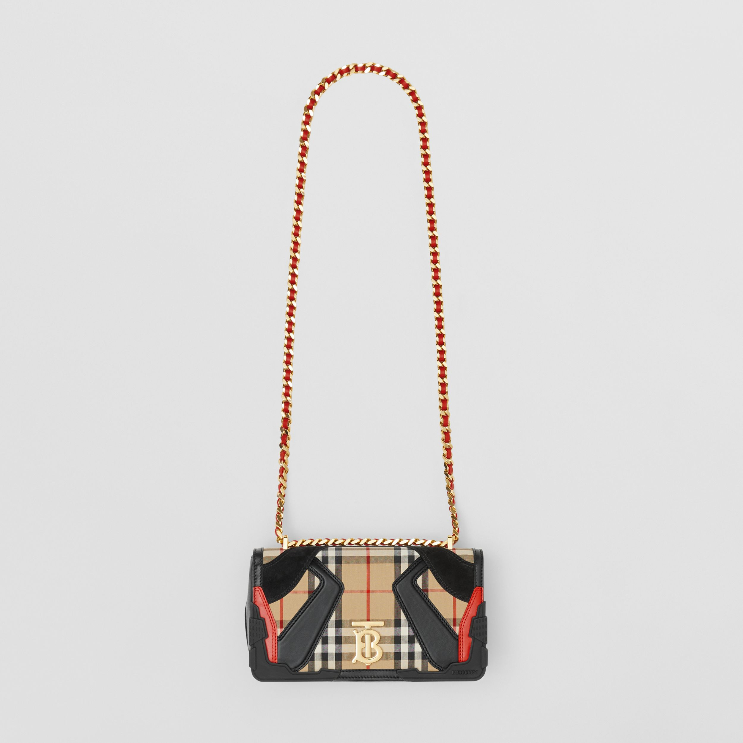 Small Appliqué Vintage Check Lola Bag in Archive Beige - Women | Burberry United Kingdom - 4