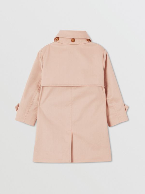 Detachable Hood Cotton Twill Car Coat in Ice Pink - Children | Burberry - cell image 3