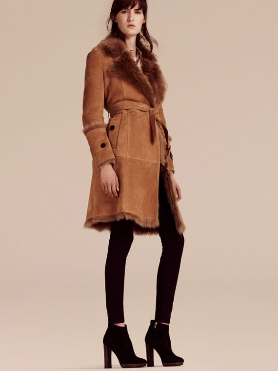 Shearling Wrap Coat