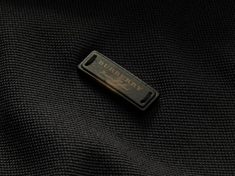 Tipped Collar Cotton Piqué Polo Shirt in Black - Men | Burberry Canada - cell image 1