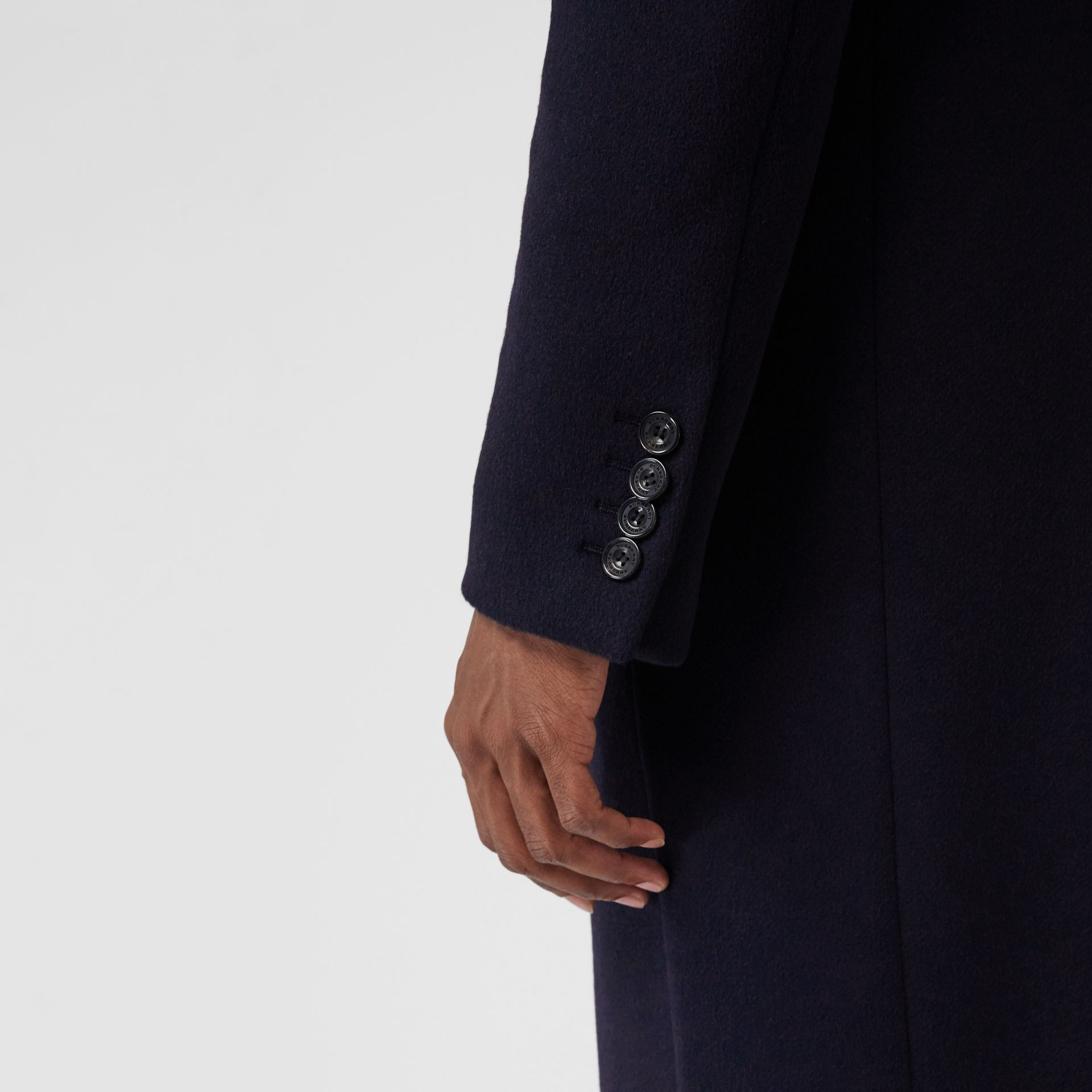 Double-faced Cashmere Tailored Coat in Navy - Men | Burberry Singapore - gallery image 5