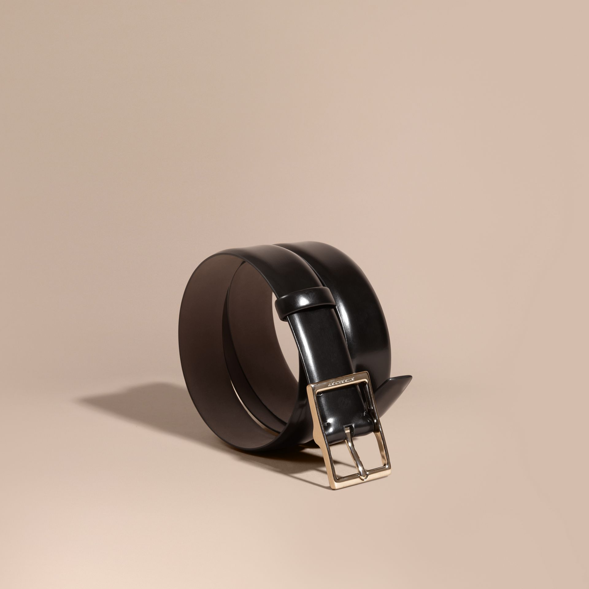 Bridle Leather Belt in Black - Men | Burberry - gallery image 1