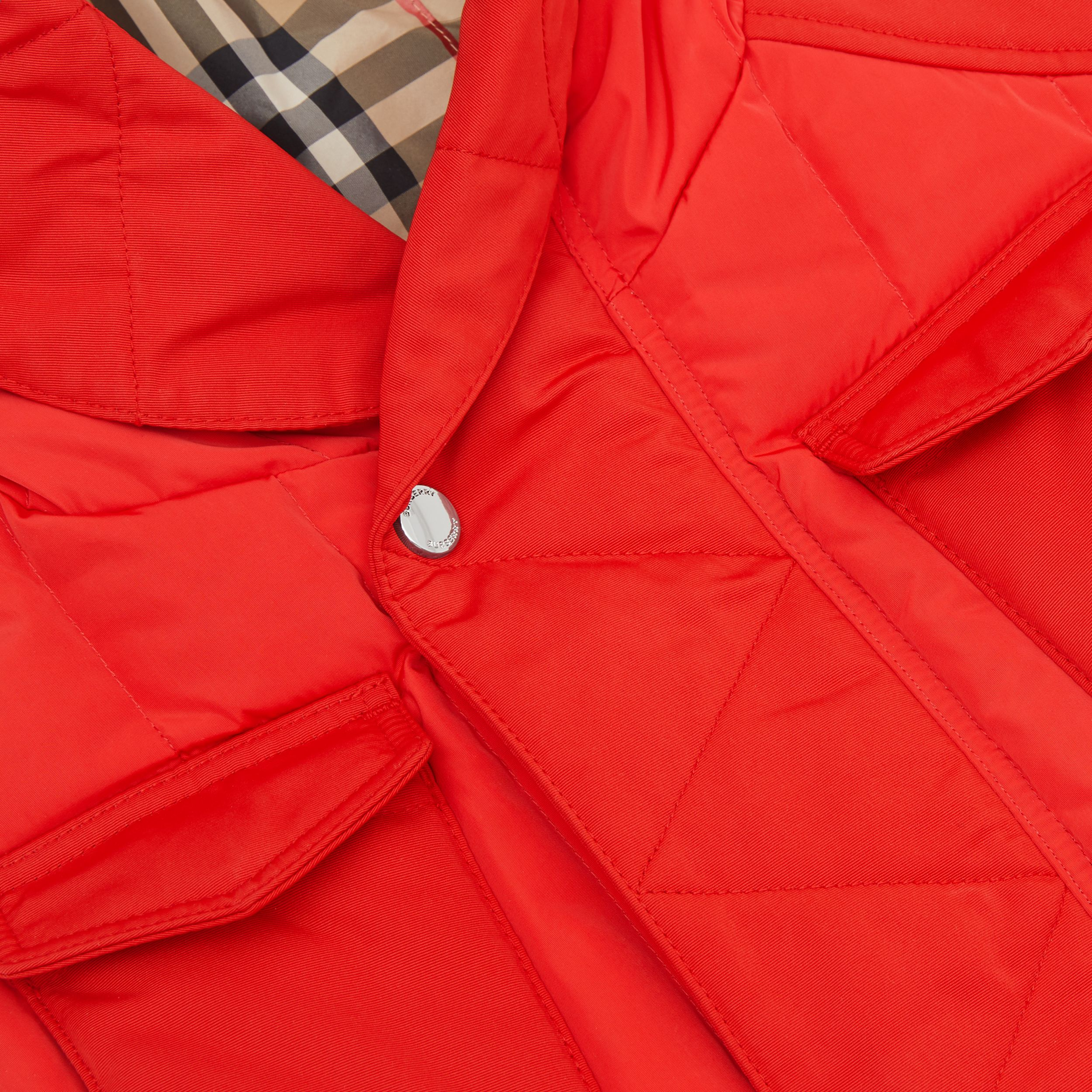 Down-filled Hooded Puffer Gilet in Bright Red | Burberry - 2