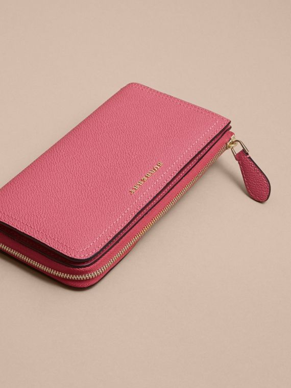 Grainy Leather Ziparound Wallet Pink Azalea - cell image 3