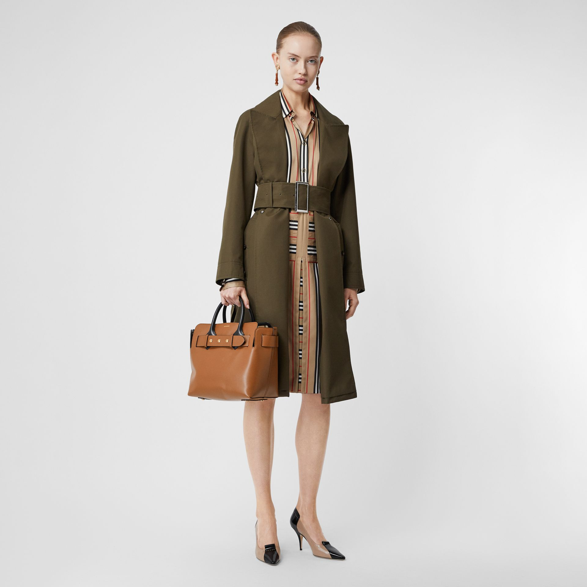 The Small Leather Triple Stud Belt Bag in Malt Brown - Women | Burberry Australia - gallery image 5