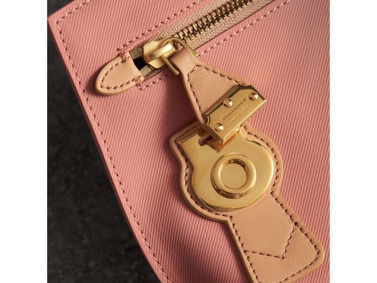 Two-tone Trench Leather Wristlet Pouch in Ash Rose/pale Clementine - Women | Burberry United Kingdom - cell image 1