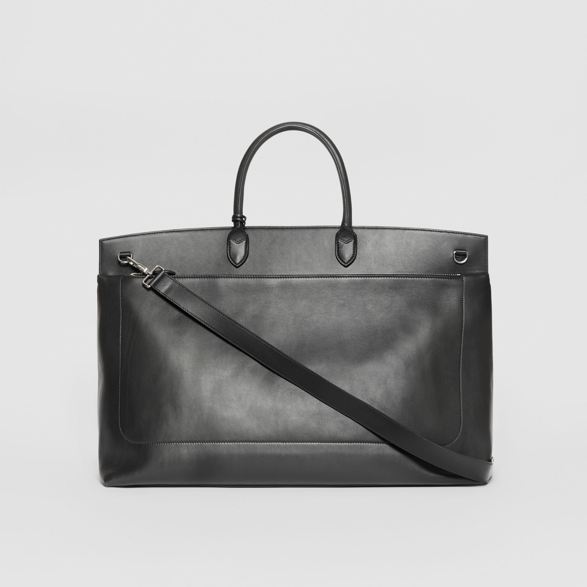 Extra Large Leather Society Top Handle Bag in Black - Men | Burberry United Kingdom - gallery image 5