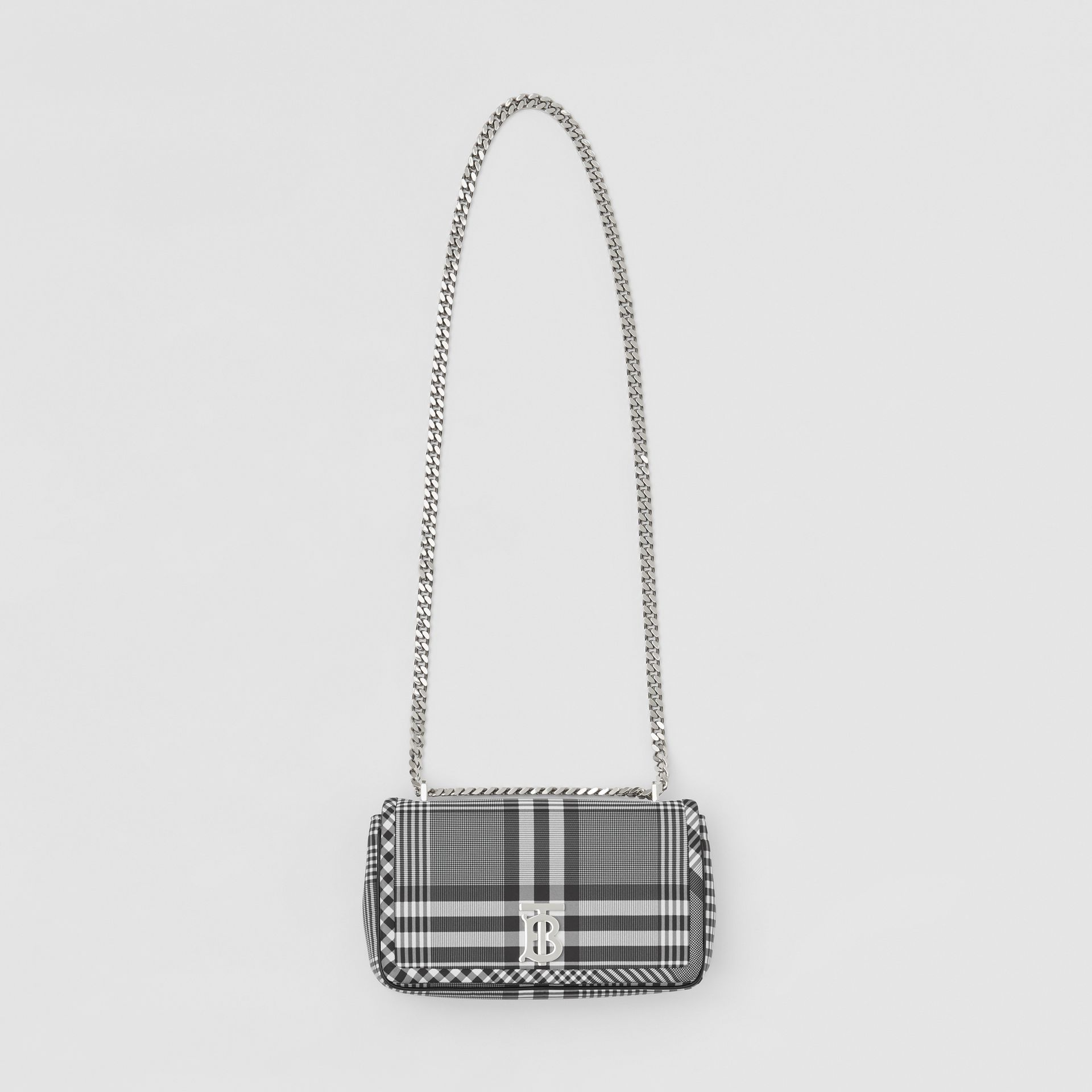 Small Check Nylon Lola Bag in Black/white - Women | Burberry Australia - gallery image 3