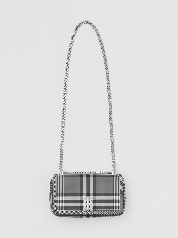 Small Check Nylon Lola Bag in Black/white - Women | Burberry Canada - cell image 3