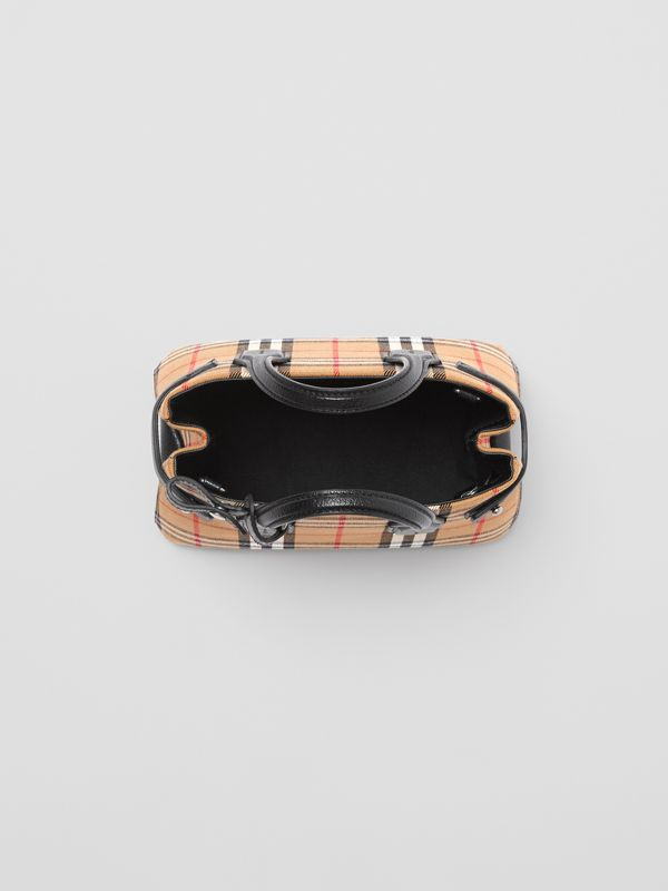 The Baby Banner in pelle con motivo Vintage check (Nero) - Donna | Burberry - cell image 3