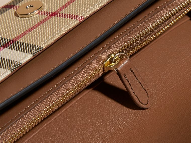 Horseferry Check and Leather Wallet with Chain in Tan - Women | Burberry - cell image 4